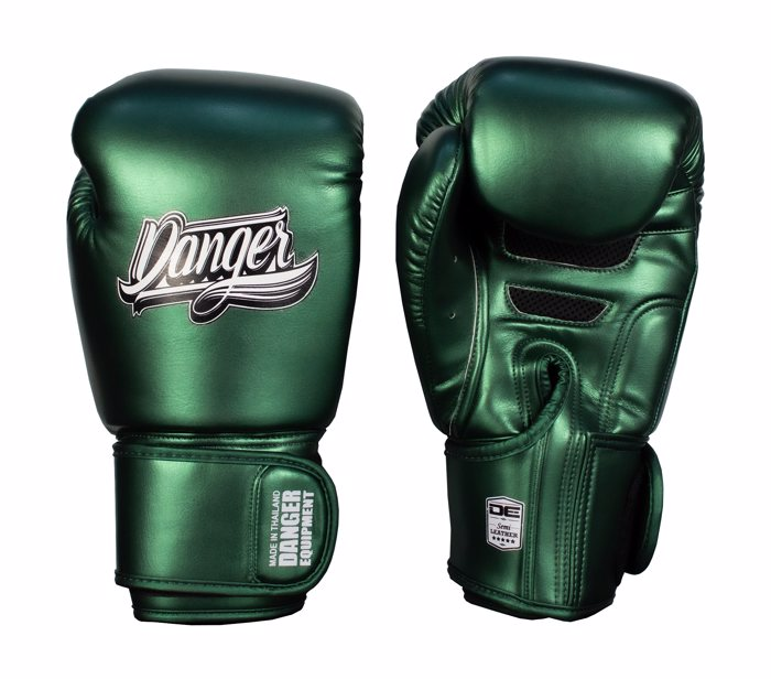 Danger Classic Muay Thai Gloves-Metallic Green