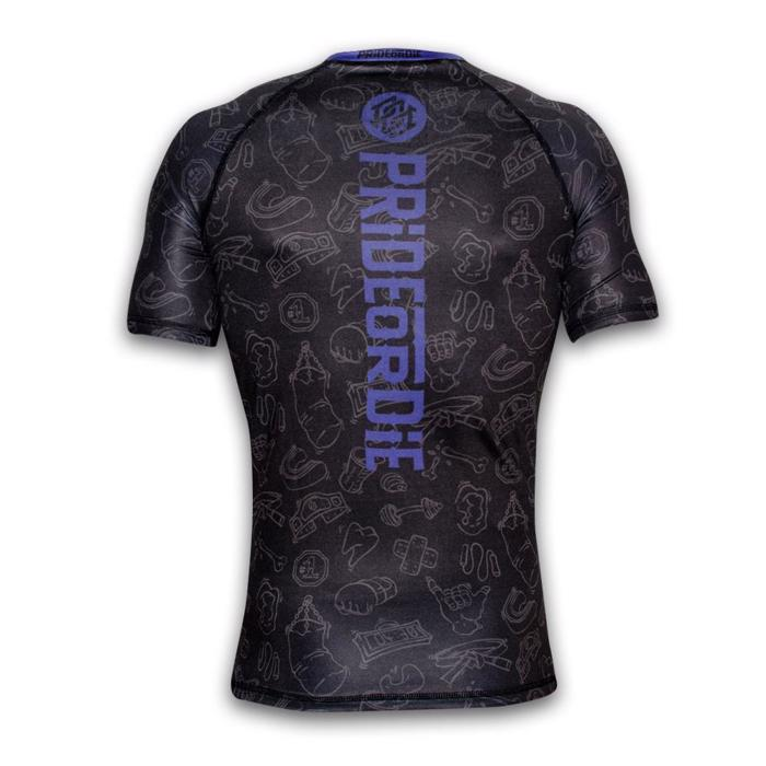 Pride Or Die FIGHT LIFE Rashguard - black