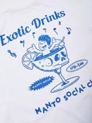 MANTO Exotic Drinks T-shirt - White