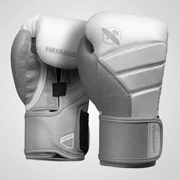 Hayabusa T3 Boxing Gloves - WHITE/GREY