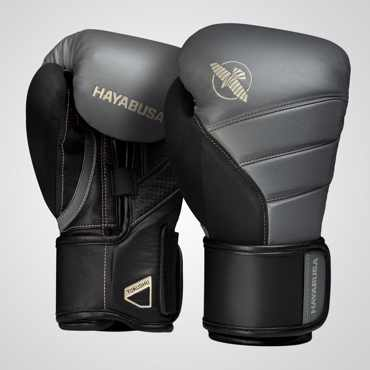 Hayabusa T3 Boxing Gloves - CHARCOAL /BLACK