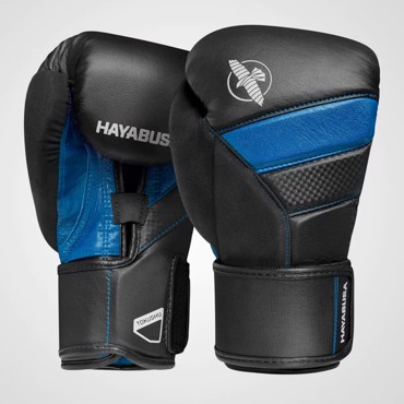 Hayabusa T3 Boxing Gloves - BLACK/BLUE