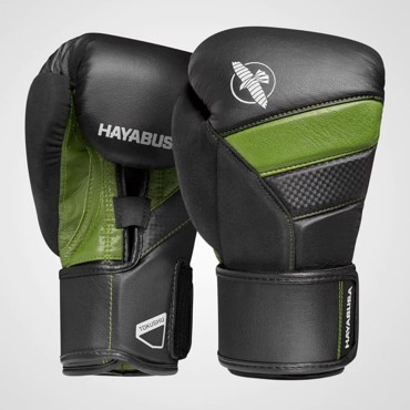 Hayabusa T3 Boxing Gloves - BLACK/GREEN