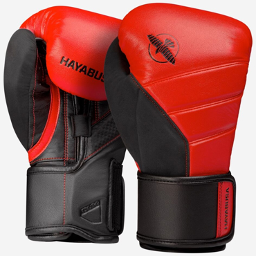 Hayabusa T3 Boxing Gloves - Red / Black
