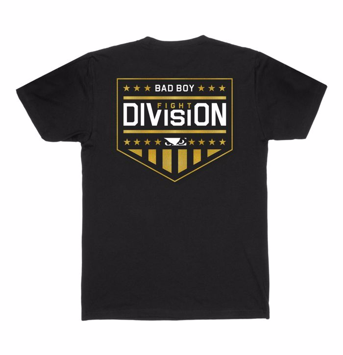 BAD BOY fight DIVISION T-SHIRT - Black