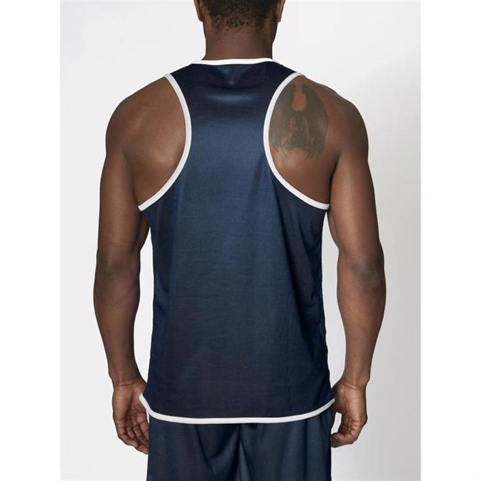 Leone Double Face Boxing Singlet - blue/red